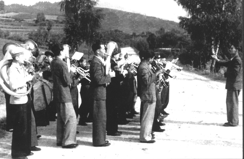 Orkiestra zakladowa F. Poprawa 1948